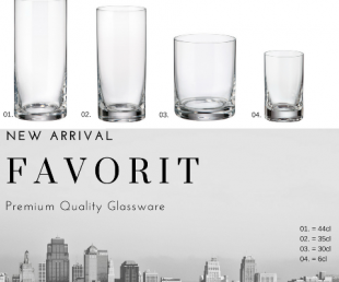 New arrival FAVORIT glassware