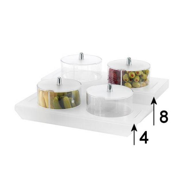 BUFFET ORGANIZER STUDIO SATINED  2*1,3lit SES02-8213/ 8εκ