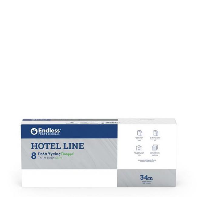 ΧΑΡΤΙ ΡΟΛΟ ΥΓΕΙΑΣ HOTEL LINE GOFRE ENDLESS  34 m / 8 τεμ
