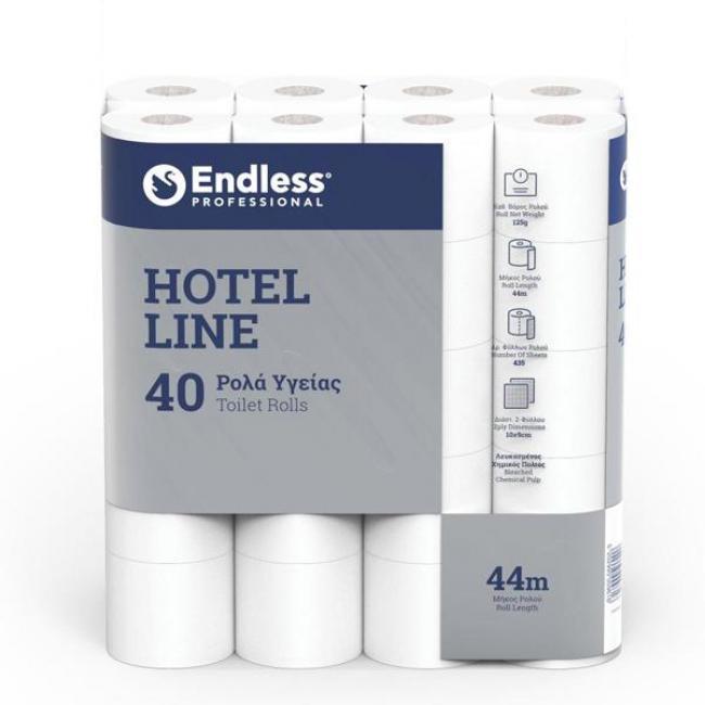 ΧΑΡΤΙ ΡΟΛΟ ΥΓΕΙΑΣ HOTEL LINE 2PLY ENDLESS 44 m / 40 τεμ